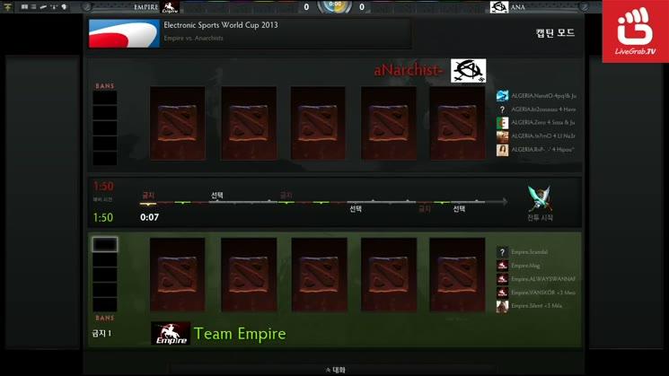 ESWC 2013 DOTA2 - Empire vs Anarchists