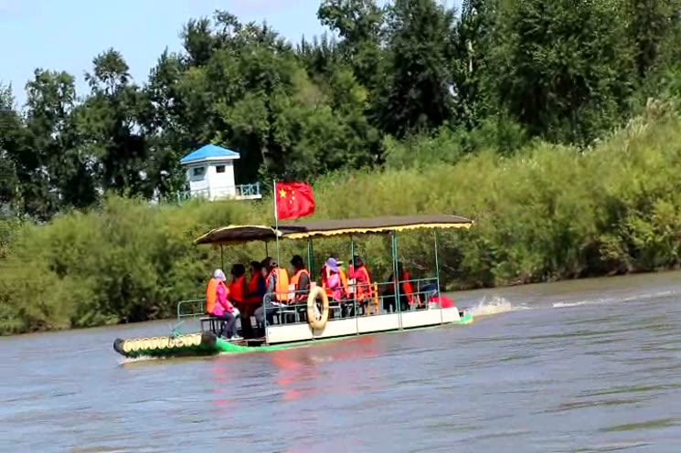 중국 두만강 북한 마을