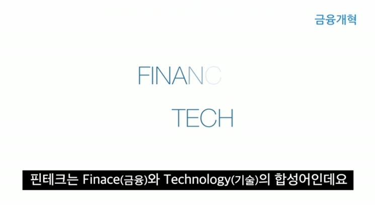 금융개혁 핀테크의 시작