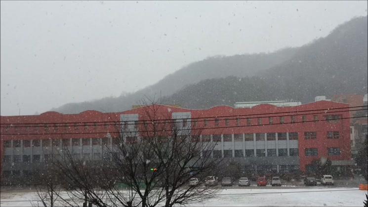 눈 오던 날의 풍경