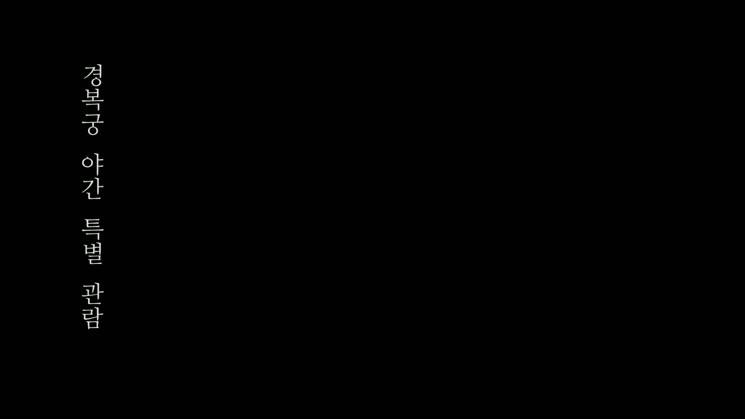 경복궁 야간 특별관람