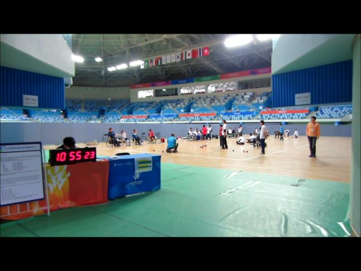 2014년 인천장애인아시아경기대회(보치아연습장면)